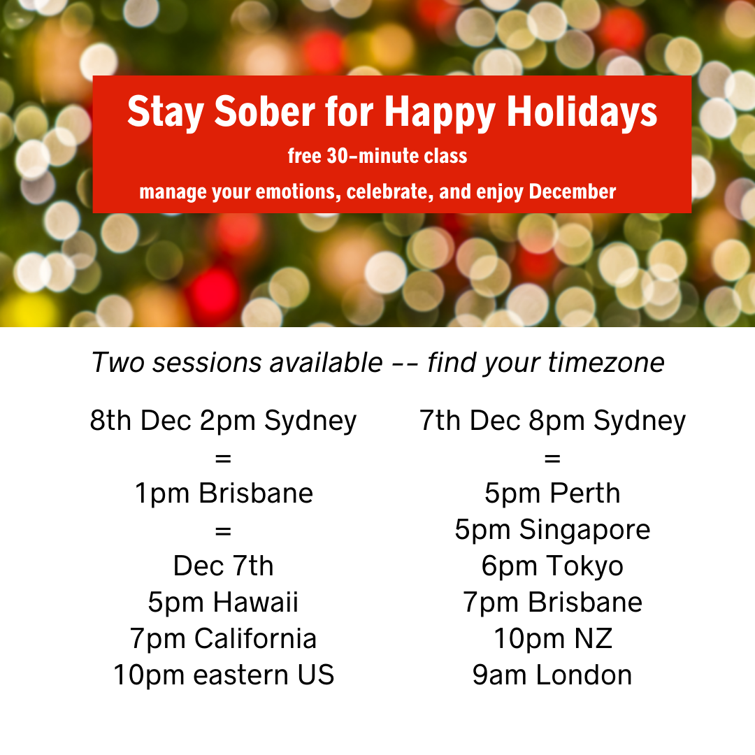 replay times for Stay Sober for Happy Holidays class timezone converter
