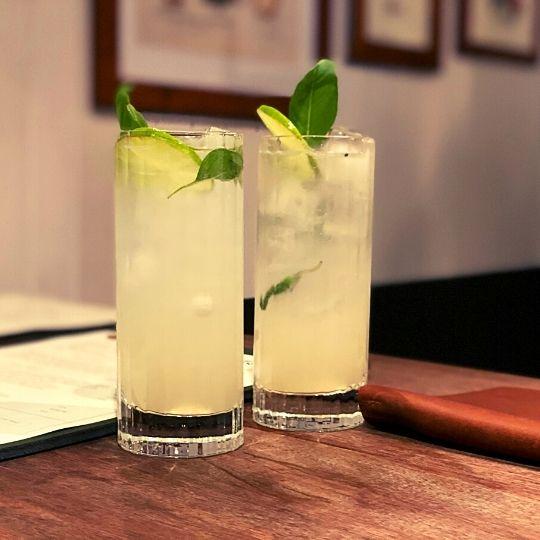 Mocktail alcohol-free at The Botanist, Kirribilli, Sydney, Australia
