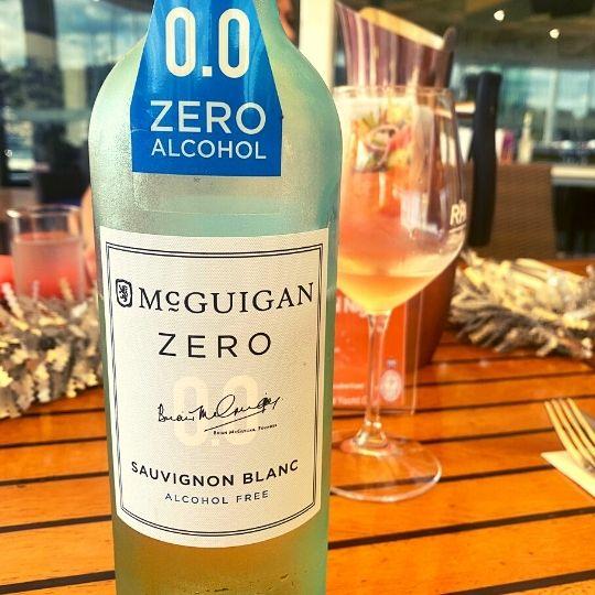 Alcohol-free wine McGuigan Zero at Royal Prince Alfred Yacht Club, Newport, Sydney, NSW, Australia