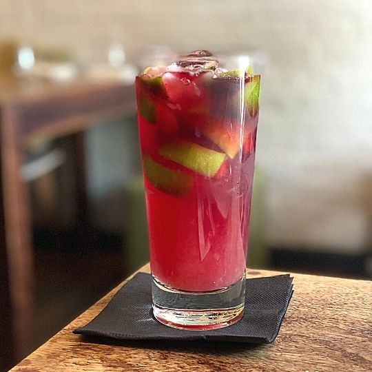 Mocktail alcohol-free drink at Almond Bar, Darlinghurst, Sydney, NSW, Australia