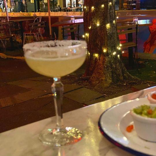 Mocktail alcohol-free margarita at La Farmacia Darlinghurst Sydney Australia